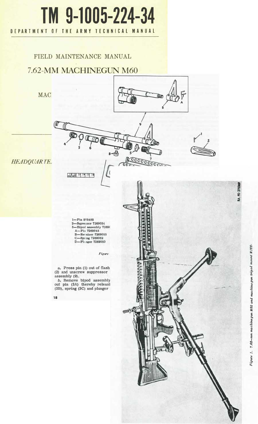 M60 1961 Field Maintenance Manual TM9-1005-224-34