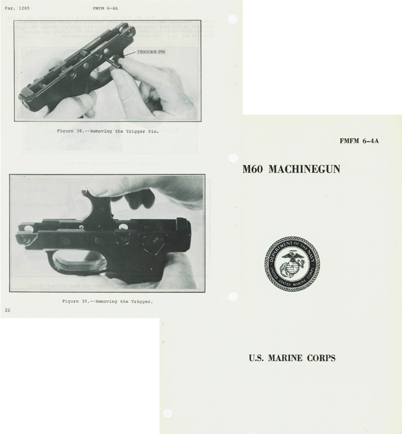 M60 1971 USMC Machinegun Manual Form 6-4A