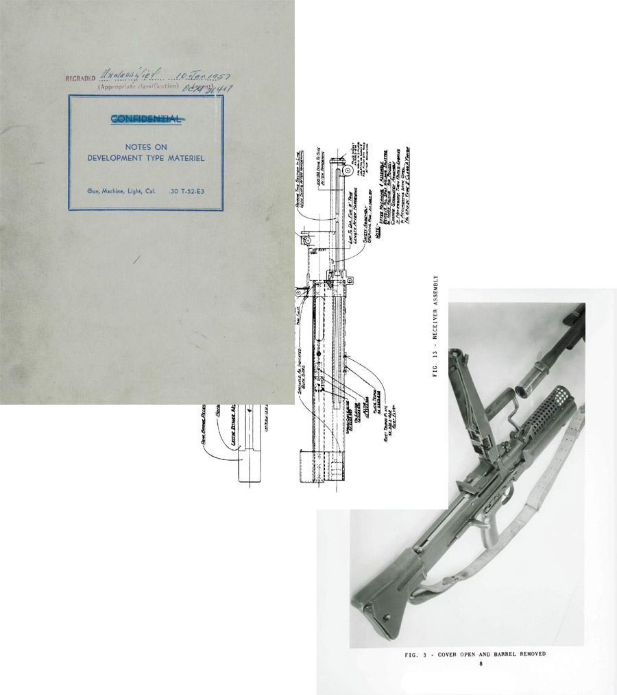T-52-E2 1957 .30 cal Light Machine Gun Development Notes