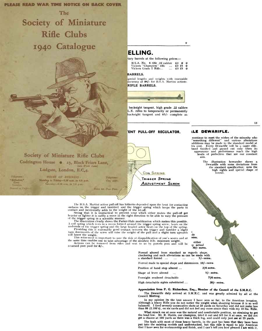 The Society of Miniature Rifle Clubs 1940 Catalog (UK)