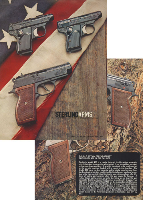 Sterling Arms 1976 Handgun Catalog w/prices, Gasport, NY