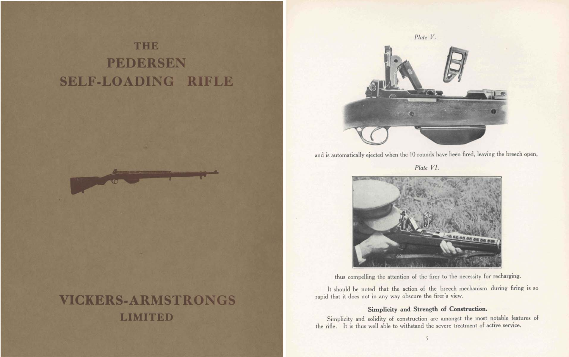 Pederson Self-Loading Rifle c1932 Vickers