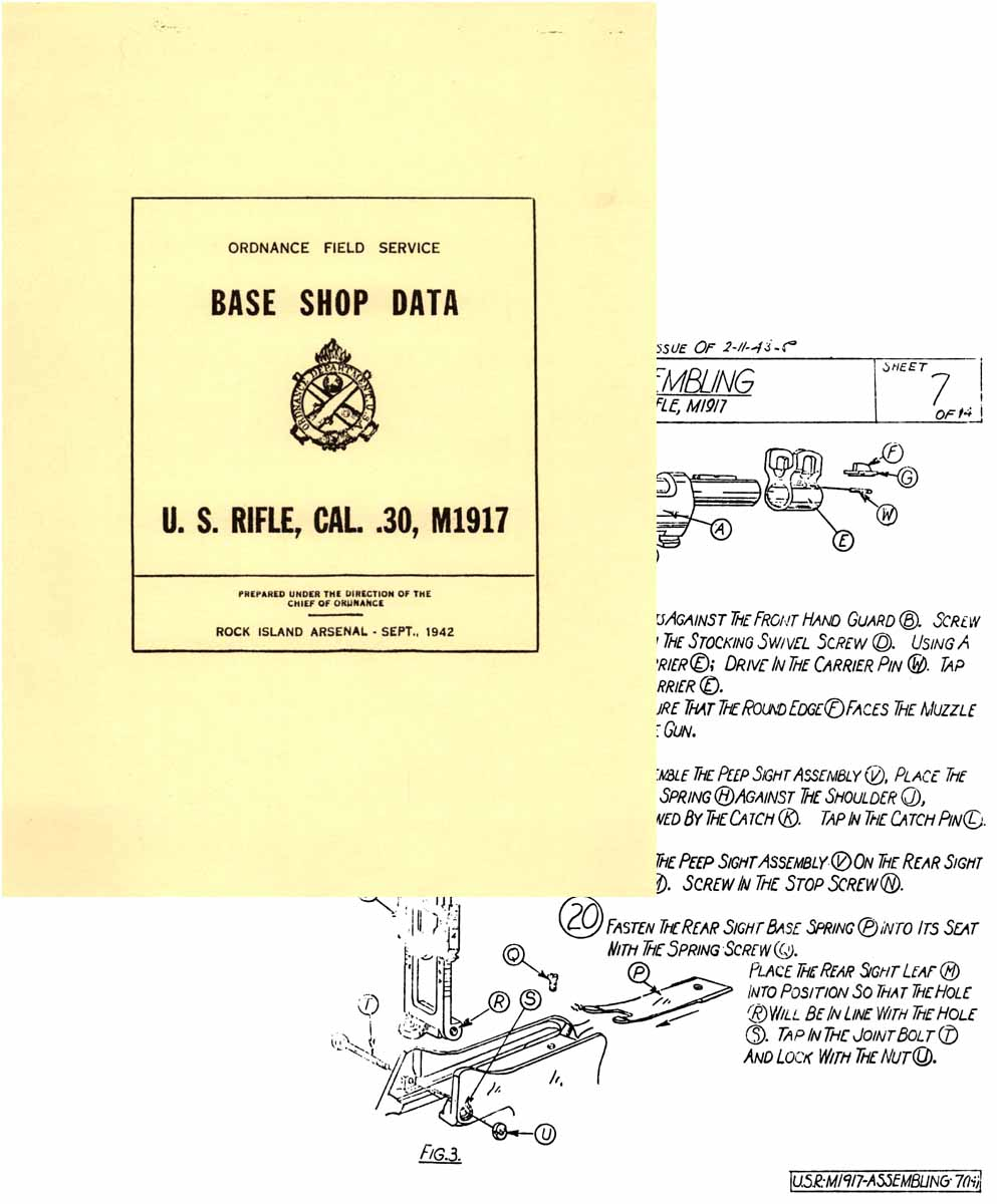 U.S. Rifle Model 1917 Base Shop Data 1942