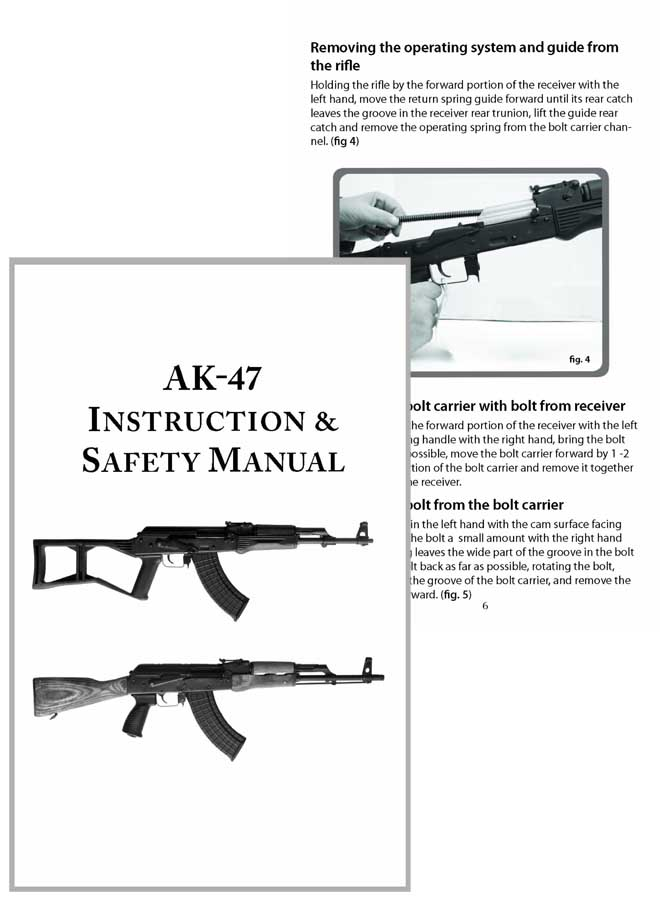 AK-47 Instruction and Safety Manual (semi-automatic)