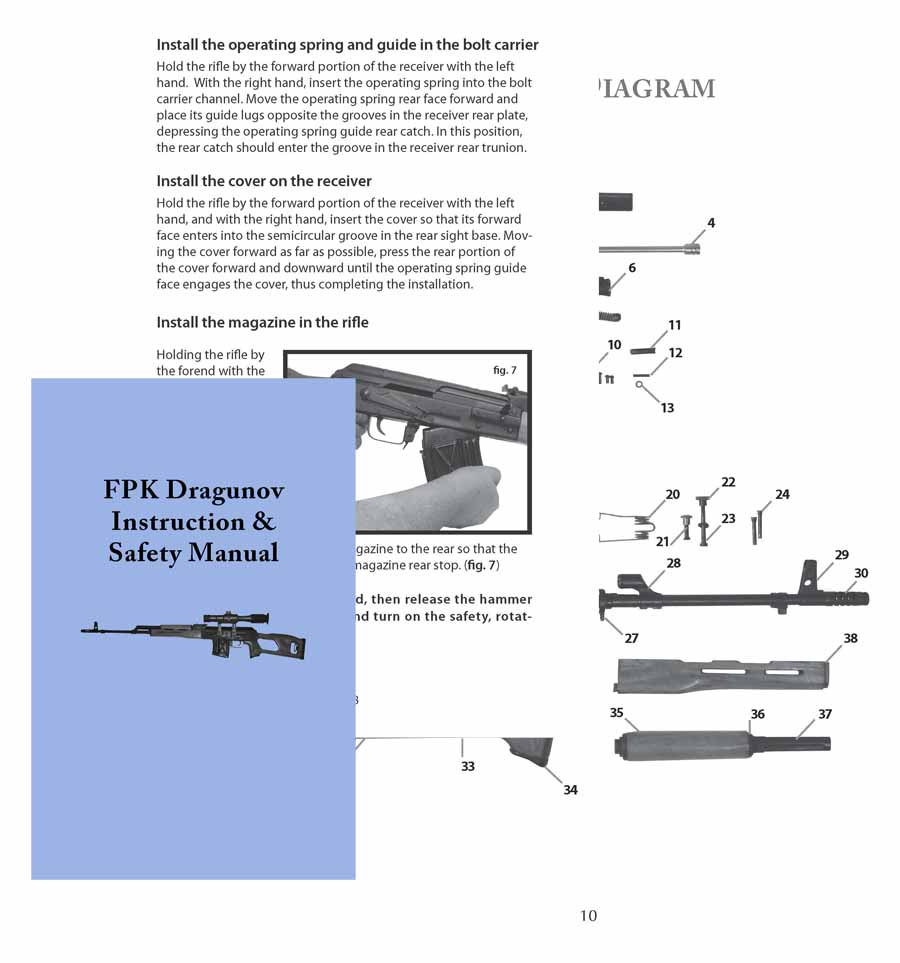 FBK Dragunov (Romanian) Rifle Manual
