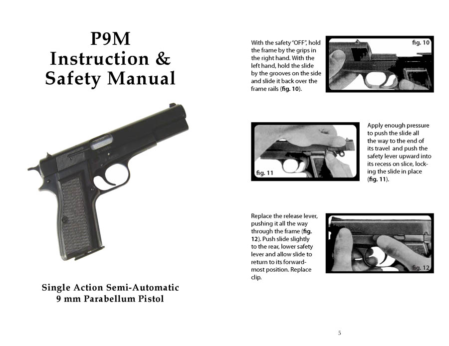P9M 9mm FEG Automatic Pistol Manual (Hungarian)