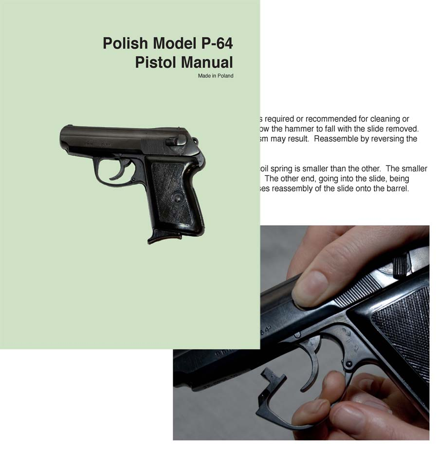 Makarov P-64 9mm Pistol Manual (Polish)