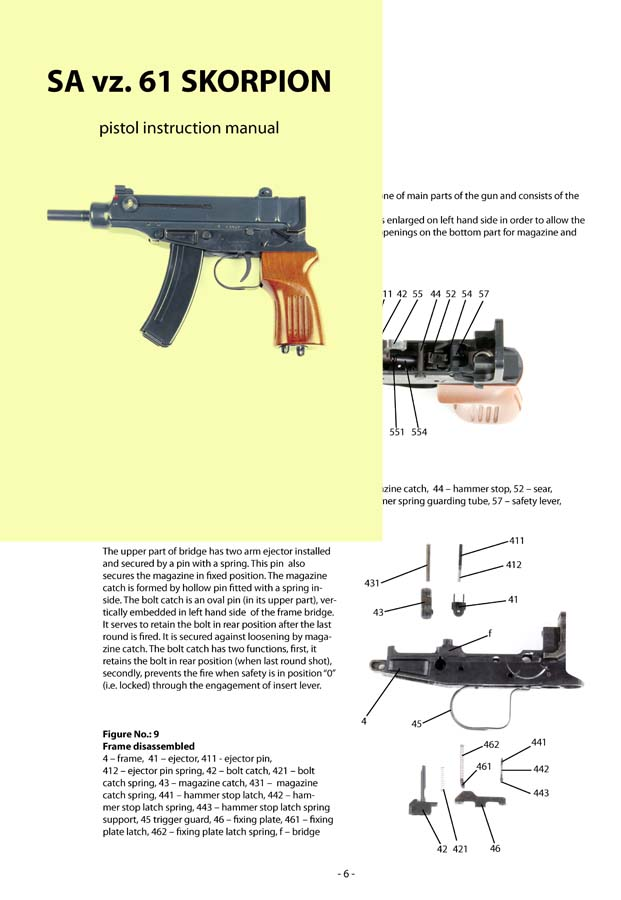 Skorpion SA vz. 61 Pistol Manual