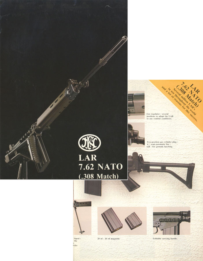 FNC 7.62 mm LAR NATO Rifle (.308 Match) c1980 Flyer