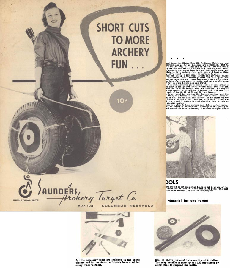 Saunders 1955 Archery Target Co. Catalog