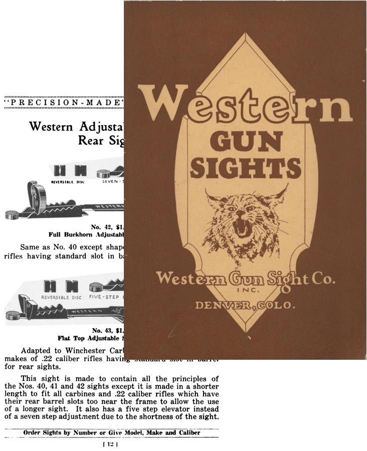 Western Gun Sights 1928 No. 1 (early Redfield Sights)