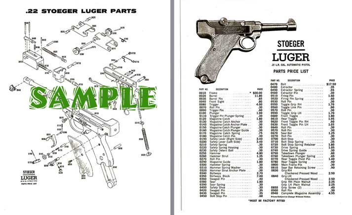 Stoeger Luger Schematic Drawings