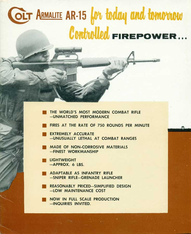 Colt Armalite AR-15 Color Brochure