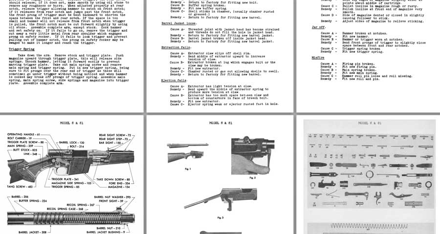 Remington Model 8 & 81 1950 Field Service Manual