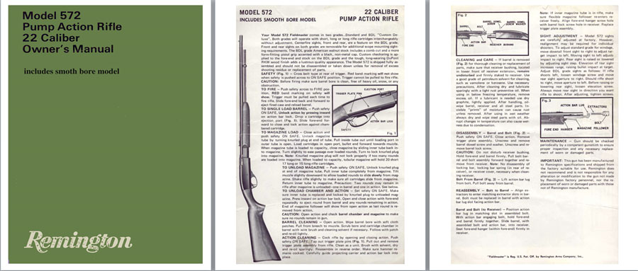 Remington Model 572- Owner's Manual