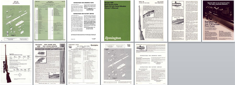 Remington Model 788 Manual- c1967 Manuals (incl LH models)