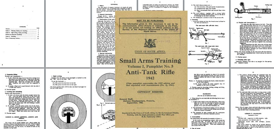 Boys Anti-Tank Rifle 1942 Small Arms Training - South Africa