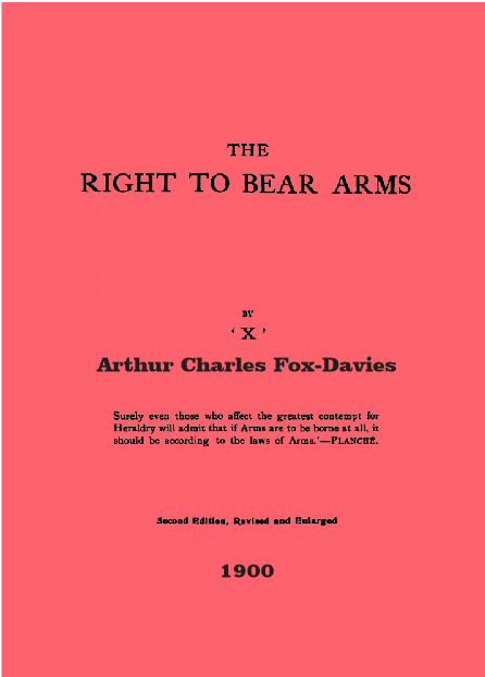 The Right to Bear Arms 1900 (UK- Hereditary Rank)