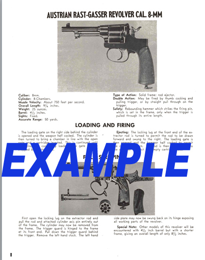 Rast-Gasser (Austrian) Revolver 8mm Field Stripping