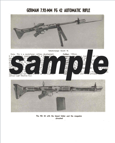 FG 42 German 7.92mm Automatic Rifle Description