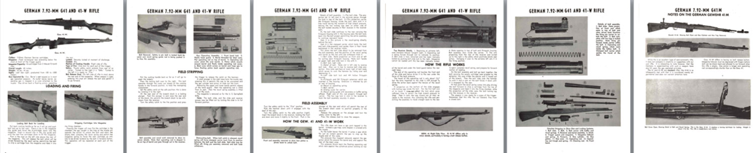G41 and 41-W Rifle German 7.92mm Manual