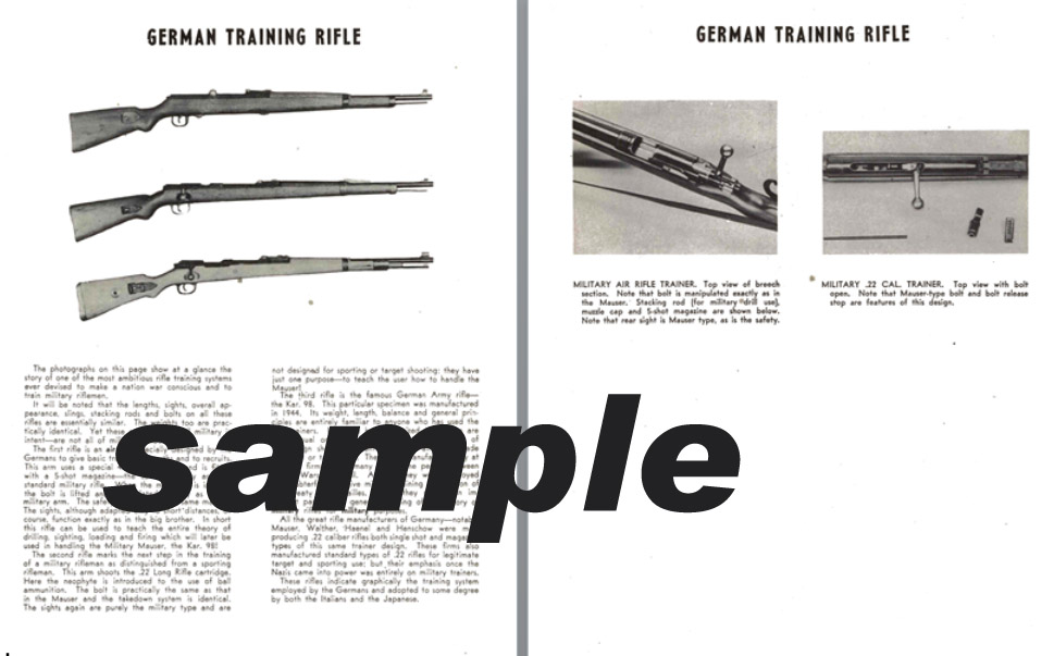 German Training Rifles (Air and .22) WWII Era