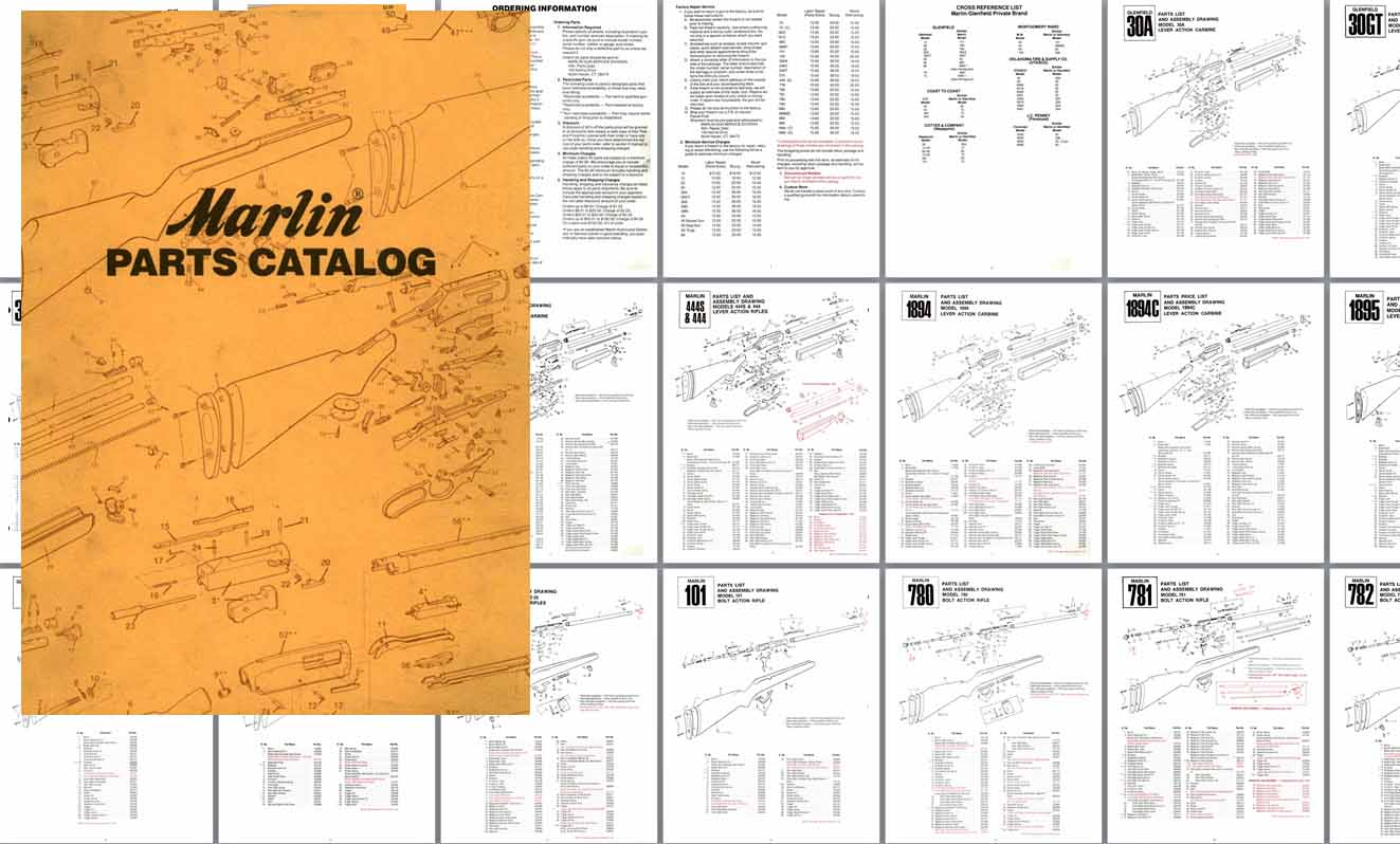 Cornell Publications Llc Links To Marlin Firearms Gun And Parts Model 1894 Diagram C1985 Catalog Exploded Views