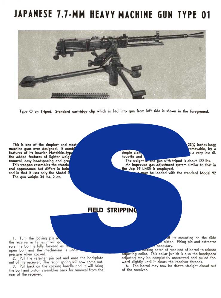 Japanese Heavy Machine Gun 7.7mm type 01 -Desc & Stripping