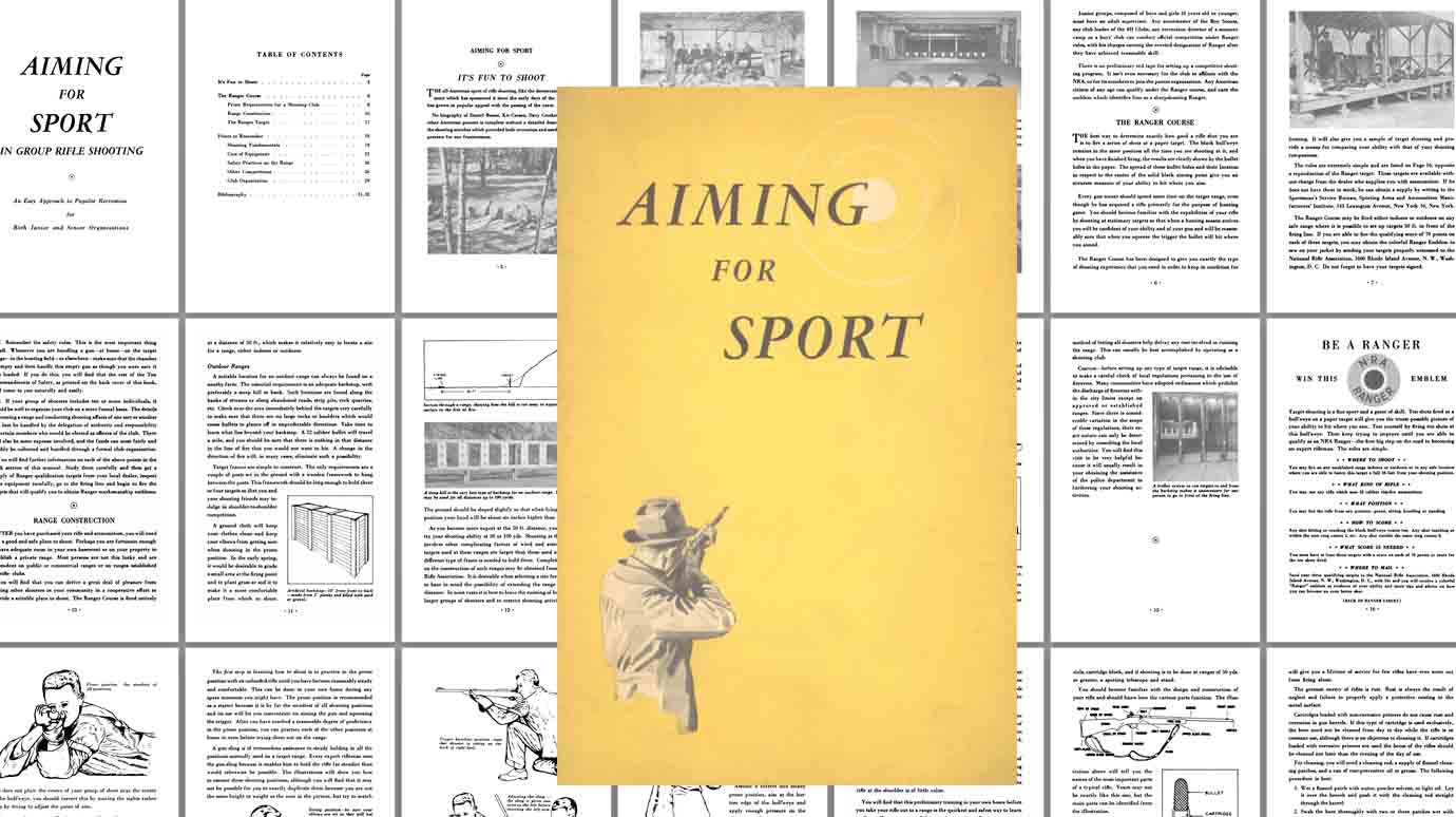 Aiming for Sport c1950 Sporting Arms and Ammunition Mfrs. Inst.