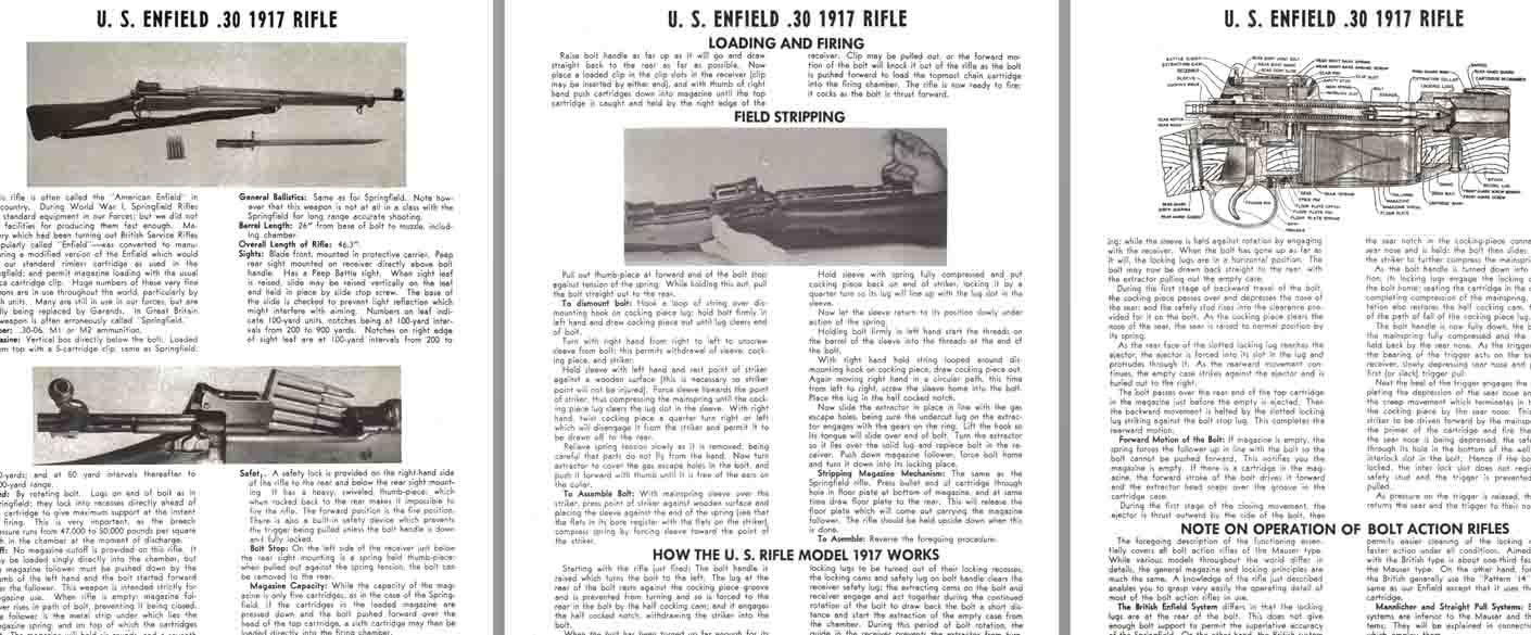 Enfield .30 Model 1917 U.S. Rifle Manual