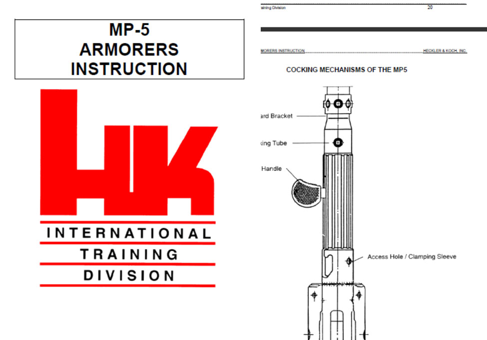 Heckler & Koch GMBH HK MP5 SMG 1995 Armorers Manual
