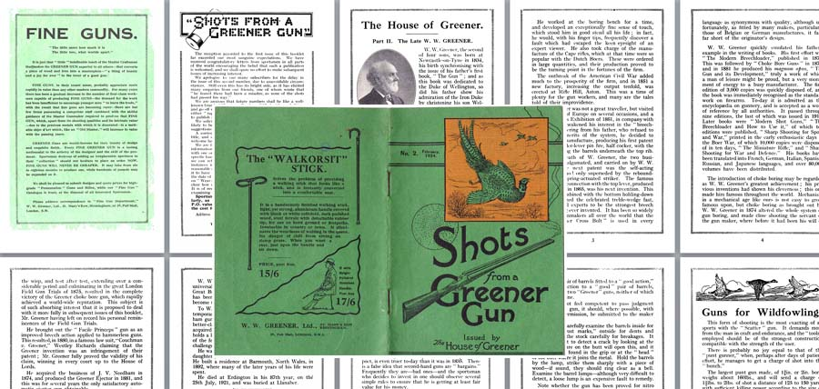 WW Greener 1924 Shots from a Greener Gun No. 2