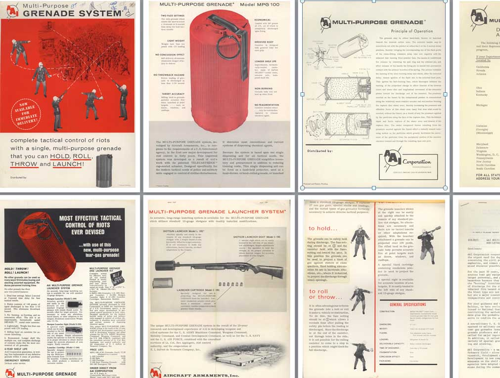 AAI 1968 Multi-Purpose Grenade System for Civil Defence