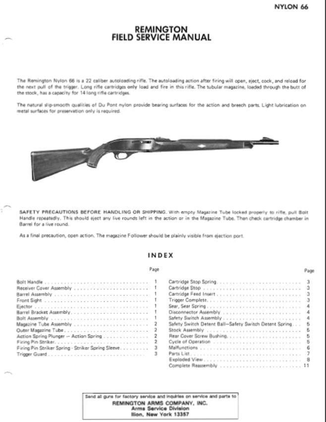 Remington Nylon 66 Manual