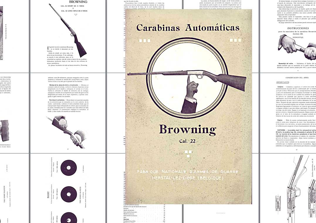 Browning 1910 Automatic 22 Rifle Manual- Spanish