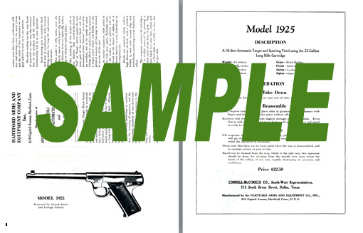 Hartford Arms 1925 Pistol Flyer