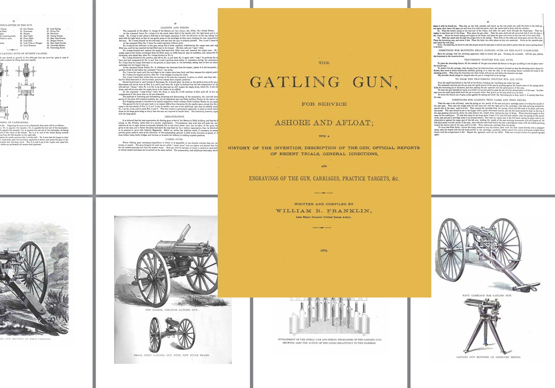 The Gatling Gun - Ashore & Afloat 1874 - William Franklin
