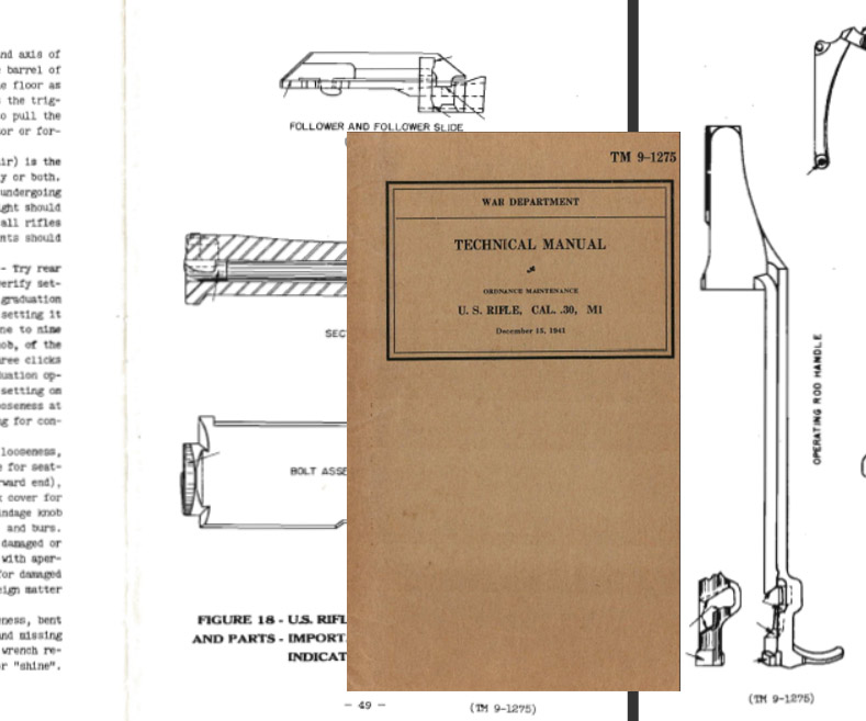 M1 U.S. Rifle .30 cal 1941 Technical Manual TM 9-1275
