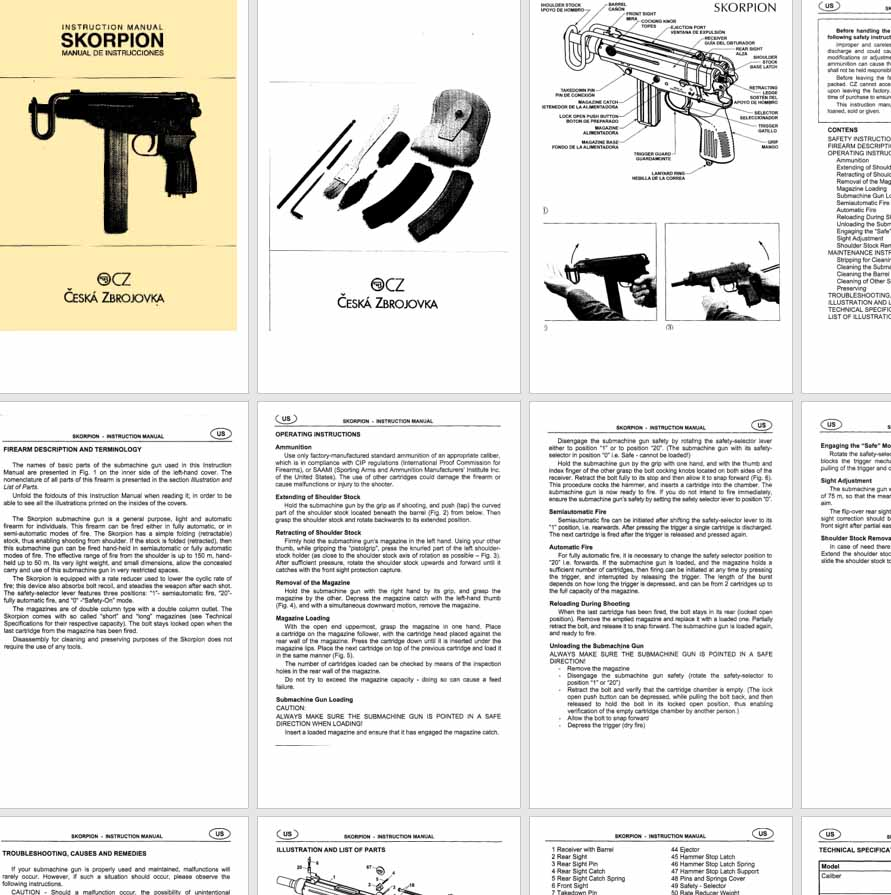 CZ Skorpion Pistol- SMG Manual