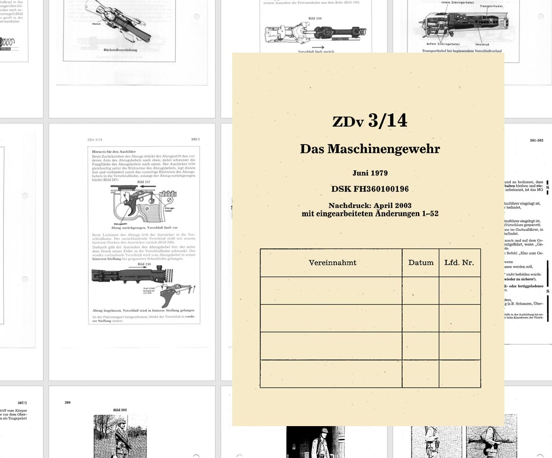 German Machine Gun MG3 Training - machinegewehr mg3