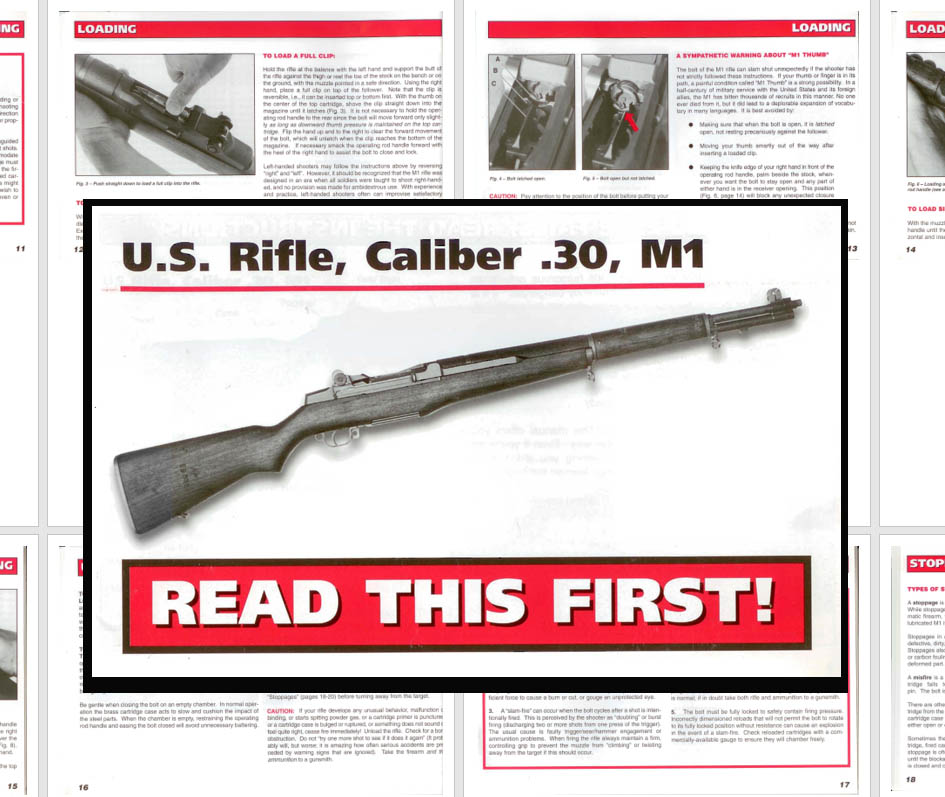 M1 Garand 1997 U.S. Rifle, Cal. .30 Manual
