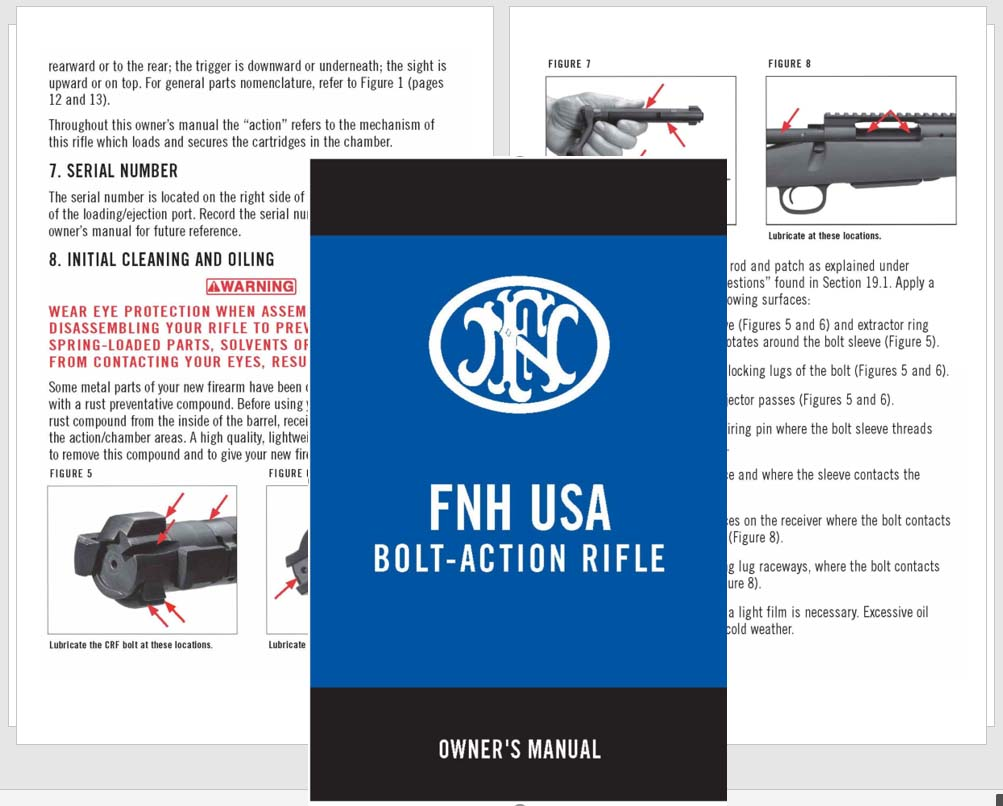 FNH USA Bolt-Action Rifle Manual