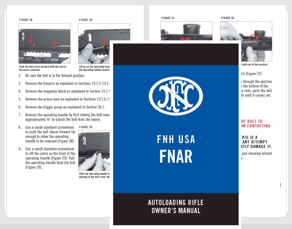 FNH USA FNAR Autoloading Rifles Manual