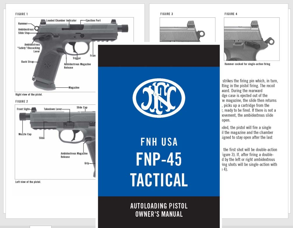 FNH USA FNP-45 Tactical Pistol Manual