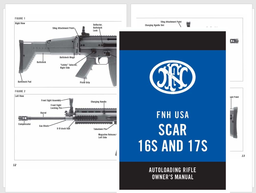 FNH USA SCAR 16S & 17S Rifle Manual