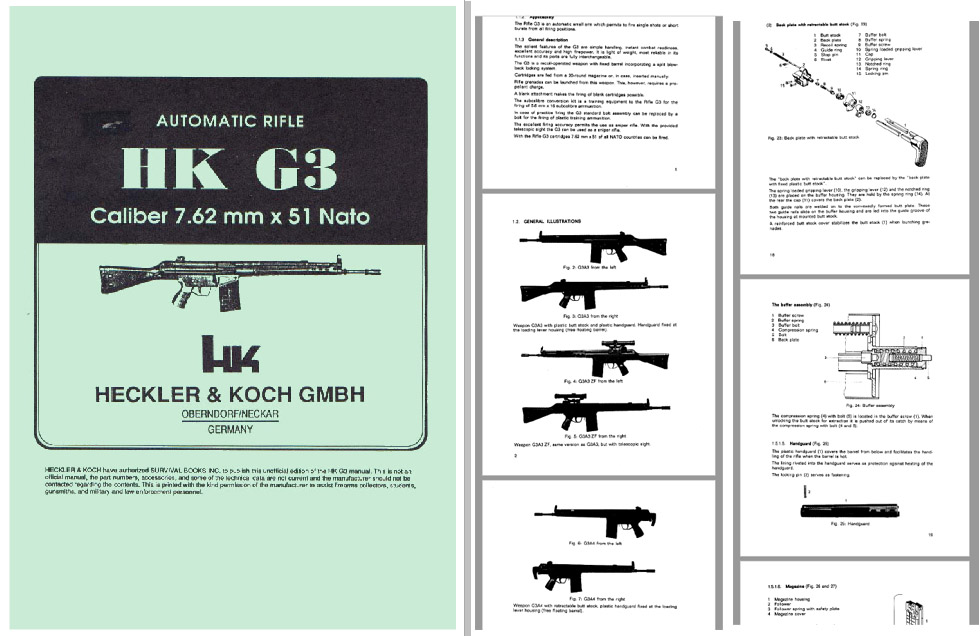 Heckler & Koch HK G3 GMBH 7.62 x 51 Nato Auto Rifle Manual