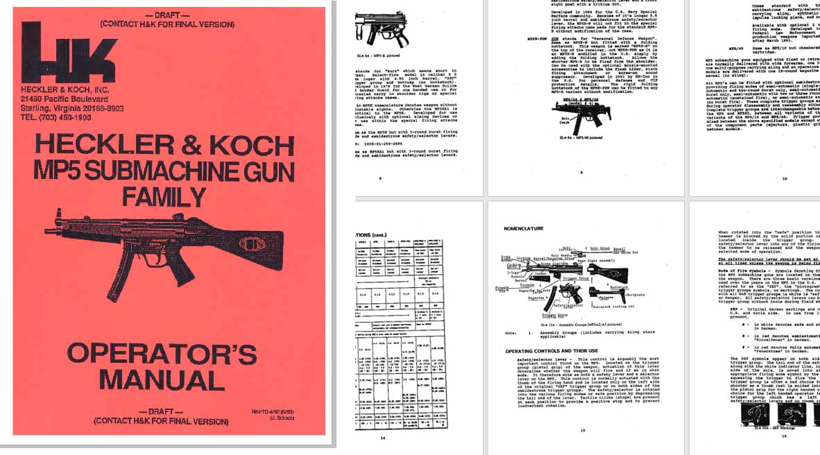 Heckler & Koch MP5 Submachine Gun Family Ops Manual