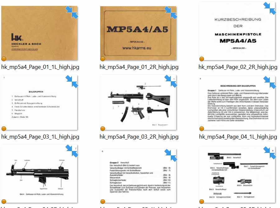 Heckler & Koch MP5A-A5 Operations Manual- Text in German