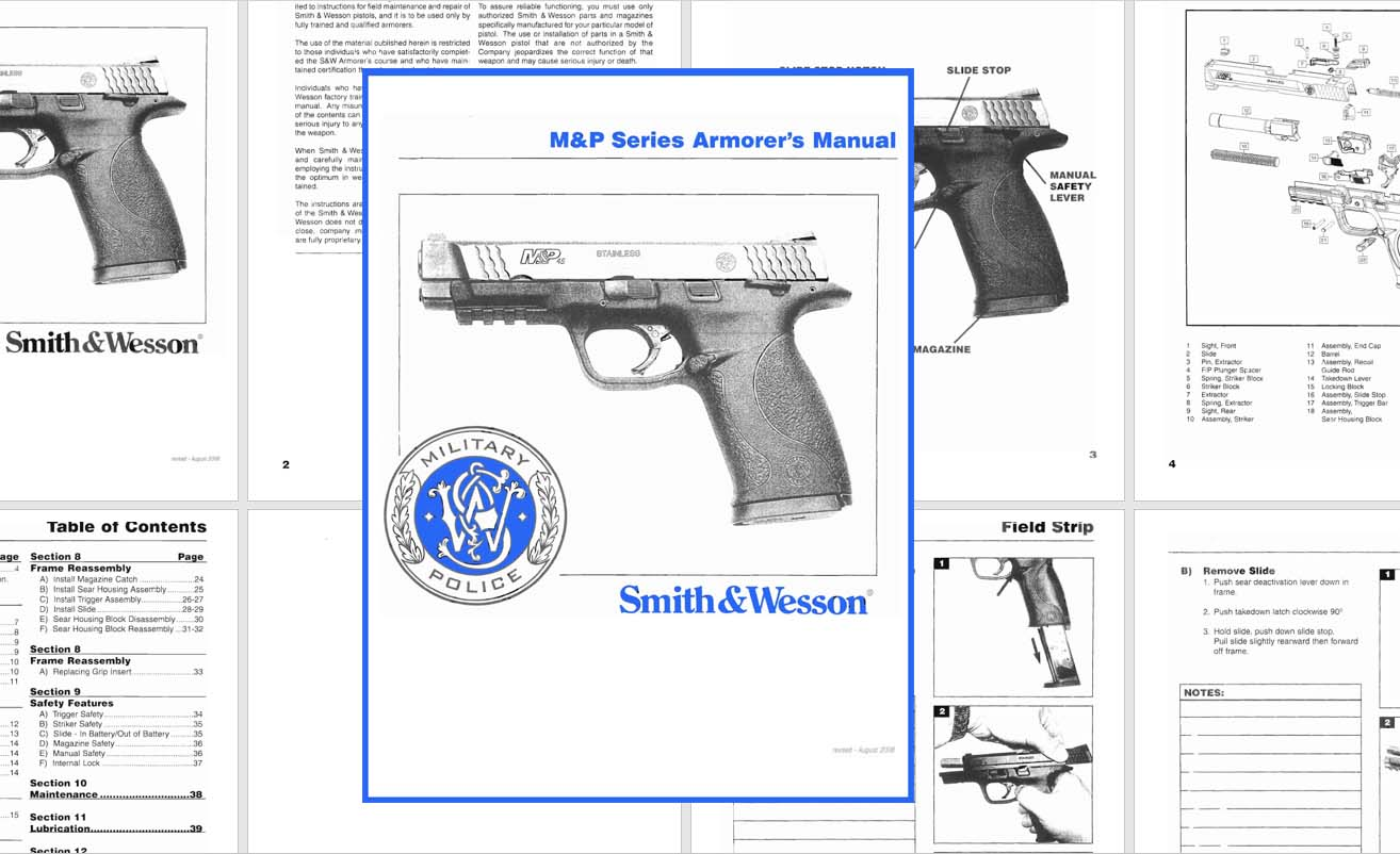 Smith & Wesson M&P Series Armorer's Manual- 2008