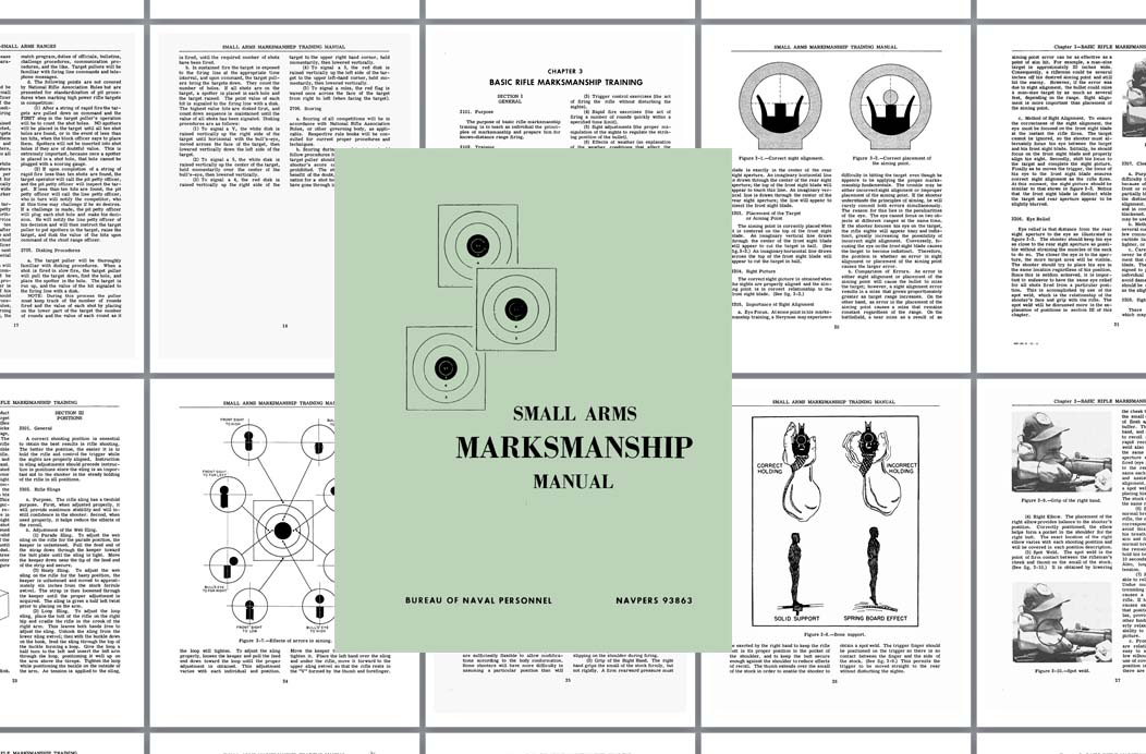 Small Arms Marksmanship Manual 1966 Bureau of Naval Personnel